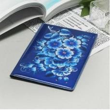 """Обложка для паспорта """" Цветы синие""""."""